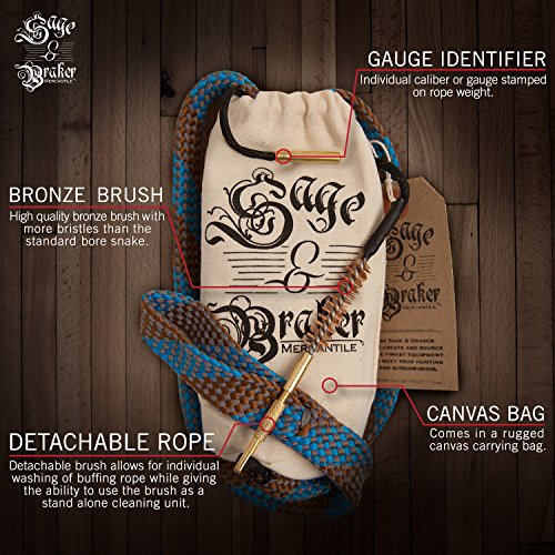 Sage and Braker Mercantile Gun Cleaning Kits, .22 cal, .223 cal, 5.56mm