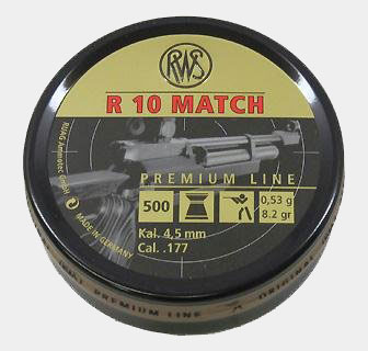 Umarex USA RWS R10 Match Competition-8.2 Grain-.177 Caliber Air Gun Pellets