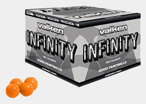 Valken Infinity Paintballs, Orange/Orange.68 Caliber, 2,000 paintballs